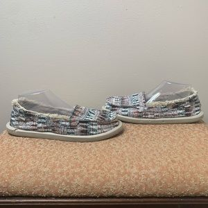 SANUK Shorty Ice Chill Slippers-White Multi Icicle